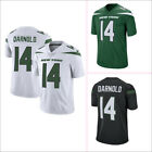 Mens New York Jets 14 Sam Darnold Jersey White Green Black M 3XL