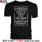 Yankees T-Shirt New York Whiskey Graphic NY NYC Men Cotton JD Whisky on Ebay