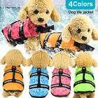 New Pet Dog Life Jacket Summer Swimming Reflective Stripes  Swimsuit Vest h8