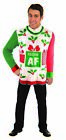 Ugly Christmas Sweater Festive AF Funny Meme Adult MD-XL Xmas Holiday Party