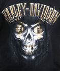 Harley-Davidson Mens Clown Skull Rider Black Short Sleeve Biker T-Shirt image