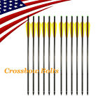 16-22in Carbon Crossbow Bolts Arrows Screw Point for Hunting Shooting 12pcs/6pcs