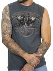 Harley-Davidson Mens Knucklehead Engine Charcoal Gray Sleeveless Muscle Shirt $14.99 USD on eBay