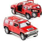 Hummer H3 1:32 Scale Diecast Metal Model Car Toy Red Black Yellow White Police