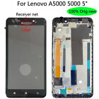 "Original New + frame 5"" For Lenovo A5000 5000 LCD Display Touch Screen Digitizer"