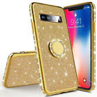 For Galaxy M30 A50/70 Glitter Stand Cover For Samsung A7 2018 J6 Plus Phone Case
