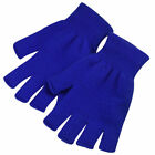 1 Pair Soft Half Fingerless Gloves Women Men Warm Knitted Mittens Couple Winter