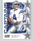 2019 Score Football Captains Insert *Pick Your Player* w/ Free Shipping (F