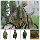 Foldable Hooded Ripstop Festival Rain Poncho for Military Camping Hiking Outdoor