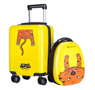 18' Carry On Spinner Luggage Backpack Set Kids Suitcase School Bag Wheel Trolley