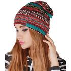 Women Winter Warm Thicken Beanie Hat Collar Cashmere Fashion Painting Hat HC