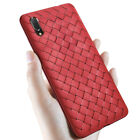 For Huawei Y6 Y7 Y9 2018/2019 Ultra Slim Woven Mesh Soft Silicone TPU Case Cover