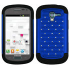 Bling Rhinestone Cover +Impact Silicone Case for Samsung Galaxy Exhibit T599
