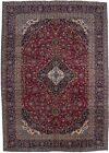 Semi+Antique+Traditional+Handmade+9X13+Vintage+Persian+Rug+Home+D%C3%A9cor+Carpet