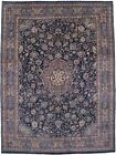 Floral Classic Style Handmade 9X12 Persian Navy Rug Oriental Home Décor Carpet