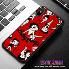 New Betty Boop Red marun Luxury Cover For iPhone And Samsung Galaxy Case $26.14 CAD on eBay