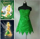 Tinker Bell Cosplay Tinkerbell Dress Green Fairy Pixie cosplay Adult Costum:FR31