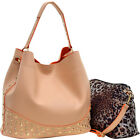 Dasein Faux Leather Studded 2-in-1 Hobo 2 Colors
