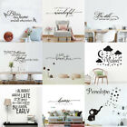 Quote Wall Stickers Vinyl Art Home Room Diy Decal Home Decor Removable Mural