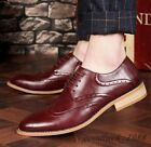 Men Classics Wingtip Business Lace Up Leather Formal Dress Brogues Casual Shoe