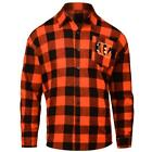 Cincinnati Bengals NFL Checkered Men's Long Sleeve Flannel Shirt on eBay