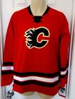 CALGARY FLAMES Youth Jersey Size XL 18/20 Stitched Crest and Stripes Red New $29.95 USD on eBay