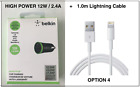 Belkin Boost Up 12W 2.4A USB Car Charger for iPhone LG Huawei Nokia Samsung Sony