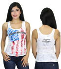 Harley-Davidson Ladies USA Starry Eyed American Flag Tank Top w/ Star Burnout $9.99 USD on eBay