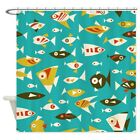 CafePress Colorful Retro Fish Shower Curtain (1333839206)