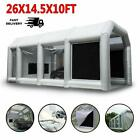 Inflatable Spray Paint Booth Auto Tent Mobile Portable Car Workstation 2 Blowers