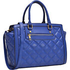 Dasein Quilted Satchel with Front Zipper 3 Colors