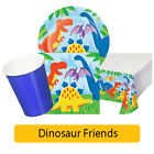 DINOSAUR FRIENDS Birthday Party Range - Tableware Balloons Supplies Decorations