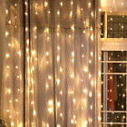 3x3m 320 LED Icicle fairy Curtain String light Waterfall Flowing water lamp