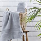 Silentnight Luxury 100% Cotton Towel Pair Hand Bath Towel Bath Sheet Light Grey