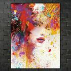 Women's Face Abstract Canvas Painting Print Pictures Home Decoration