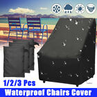 2.9' Waterproof Outdoor Chair Cover High Back Patio Garden Furniture Protector