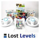 Nintendo Wii Console + Games Inc Mario Kart, Play, 2 Controllers, Choose Colour