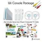 Nintendo Wii Console + Inc. Mario Kart, Wii Sports, 2 Controllers, Choose Colour