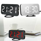 Fashion Digital LED Mirror Dual USB Port Rechargeable Dimmer Alarm Clock Beamy