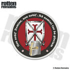 Knights Templar Crusader Decal Shield Helmet Cross Vinyl Sticker EVM