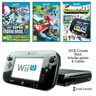 Nintendo Wii U Console - Choose Colour - Complete Setup - White / Black + Games