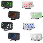 AD_ Fashion Digital LED Mirror Dual USB Port Rechargeable Dimmer Alarm Clock Rel