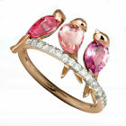 Turkish Handmade 925 Silver Cocktail Ring Women Jewelry Wedding Bridal Size 6-10