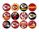 "Kansas City Chiefs Button Badge Pin Pinback Magnet  Flatback 1.25"" Fan Gift Set $10.99 USD on eBay"