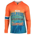 Miami Dolphins Super Bowl VIII Champions Poly Hoody Tee $29.99 USD on eBay