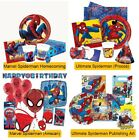 Marvel Spiderman Birthday Party Ranges - Tableware Balloons Supplies Decorations