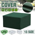 Uk Garden Furniture Waterproof Cover Rain Snow Dust Cover Outdoor Green Covers