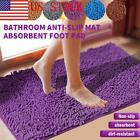 US Non-Slip Bath Rug Mat Soft Absorbent Shaggy Rugs Tub Showe Rug Fluffy Mat 03