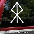 Courage Bindrune Vinyl Sticker - Viking Symbol Bind Rune - Die Cut Decal