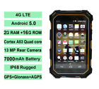 "4G LTE Rugged Tablet PC Smartphone 7"" NFC Land IP68 Rover Android 5.1 Industrial"